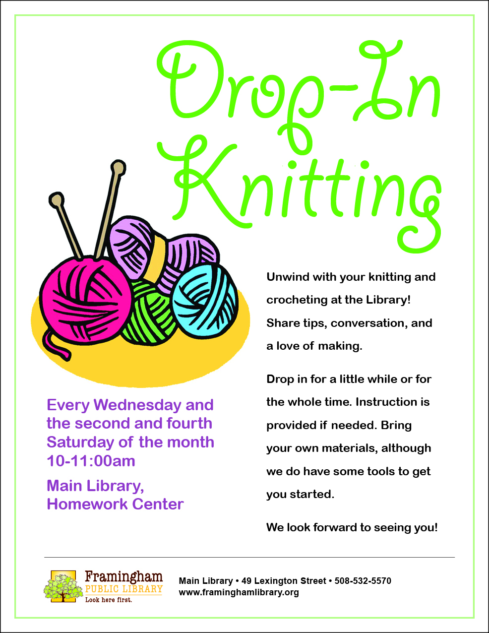 Drop-in Knitting thumbnail Photo