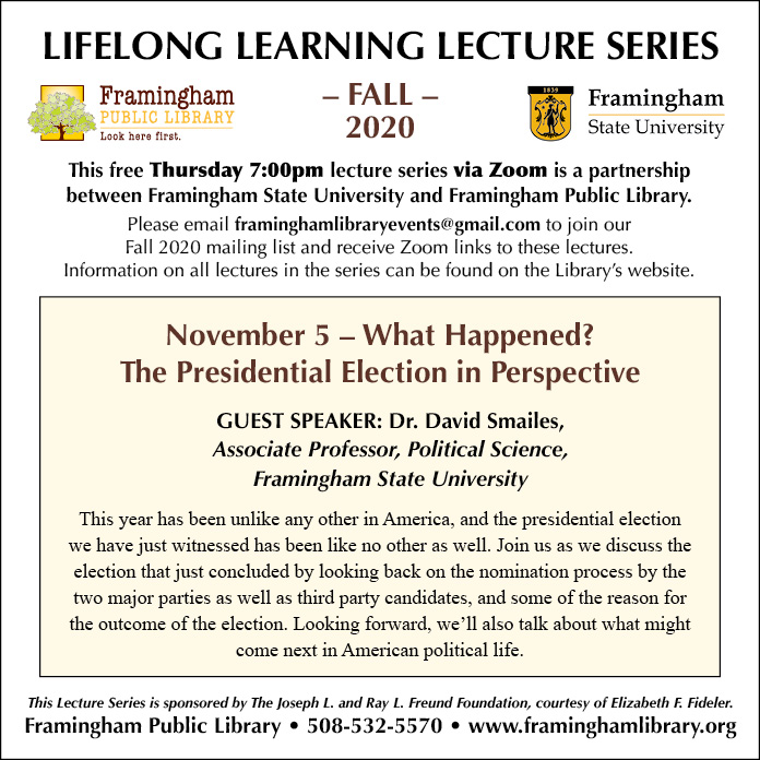 Lifelong Learning Lecture Series: What Happened? The Presidential Election in Perspective thumbnail Photo