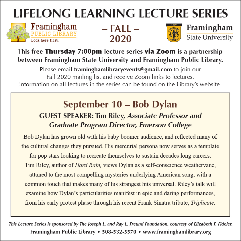 Lifelong Learning Lecture Series: Bob Dylan thumbnail Photo