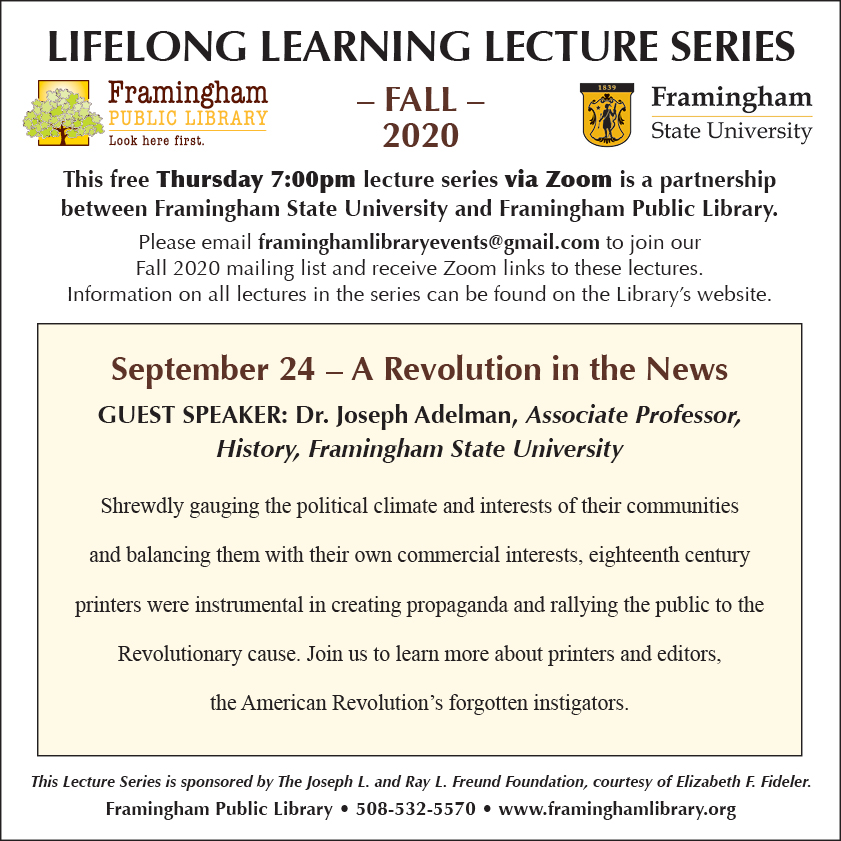Lifelong Learning Lecture Series: A Revolution in the News thumbnail Photo