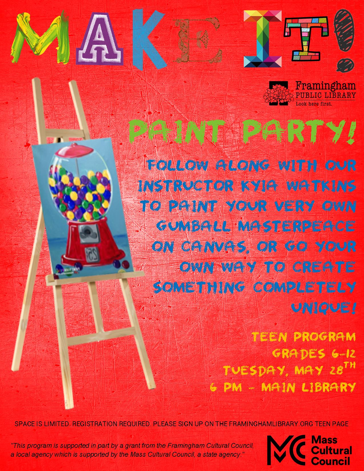 Make It! - Paint Party (PROGRAM FULL, WAIT LIST IS OPEN) thumbnail Photo