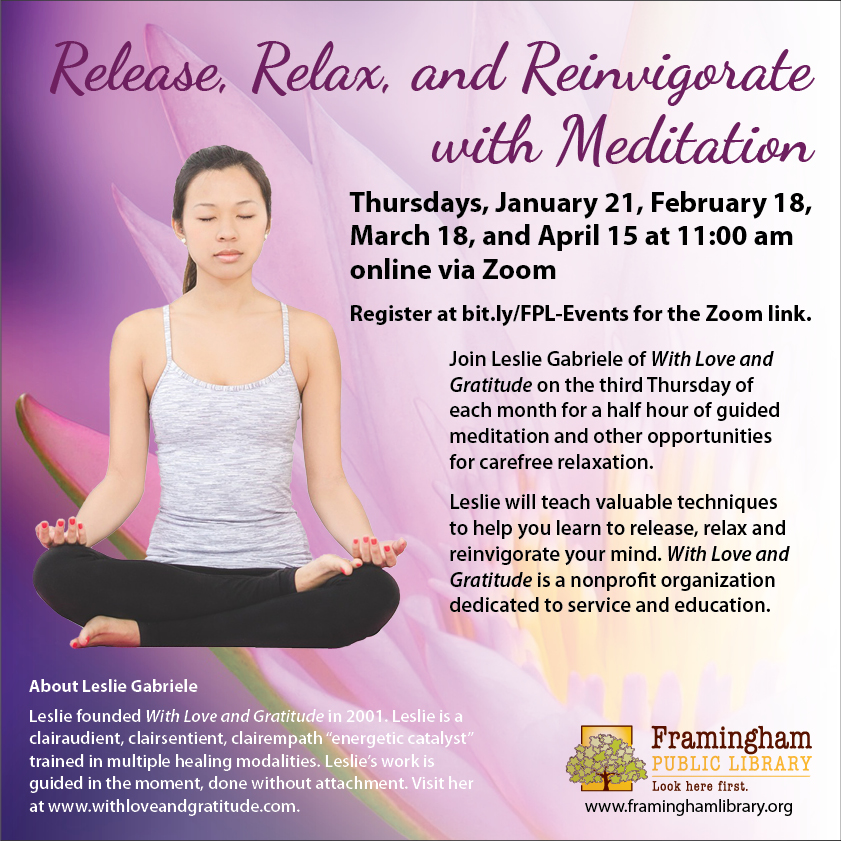 Release, Relax, and Reinvigorate with Meditation thumbnail Photo