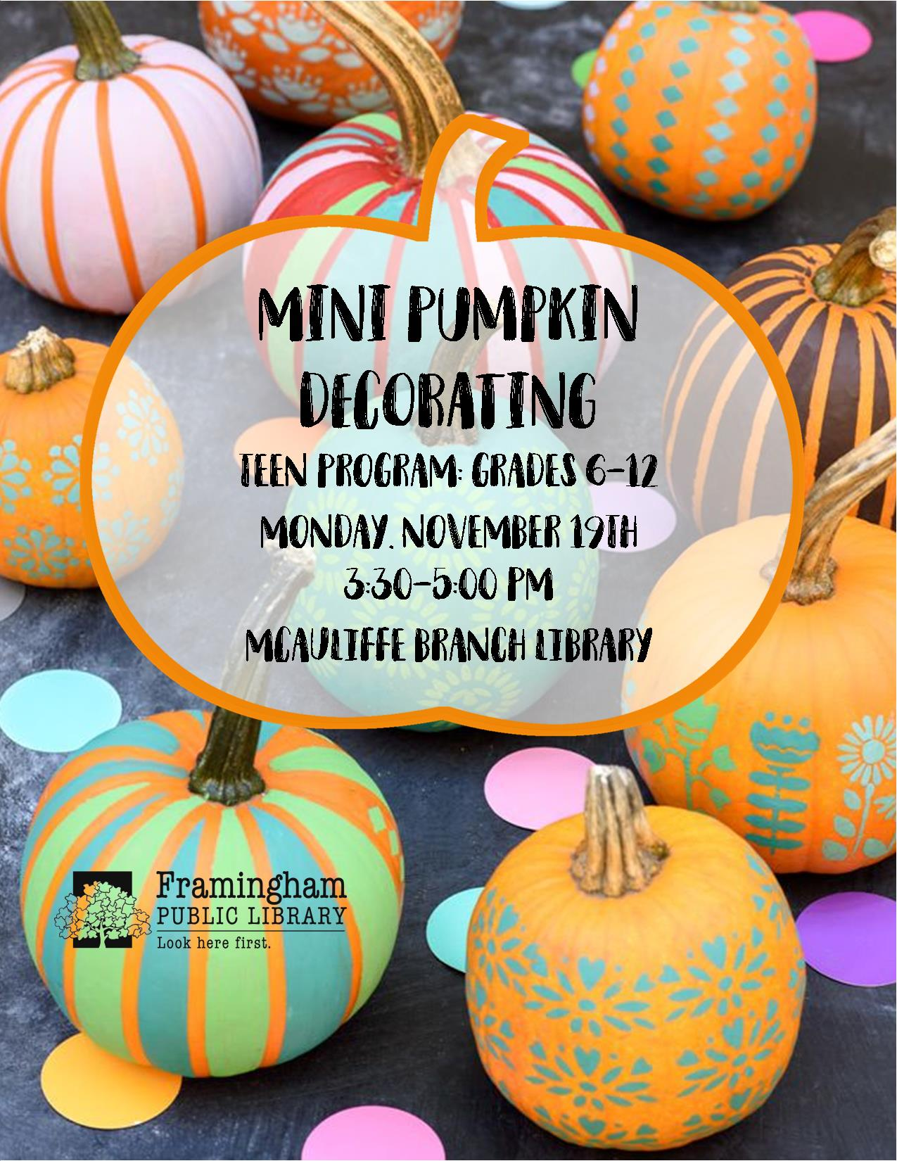 Mini Pumpkin Decorating thumbnail Photo