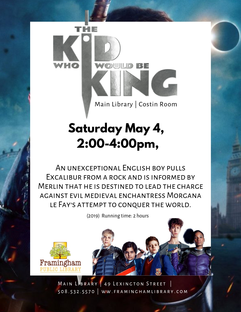 Movie Matinee: Kid Who Would Be King thumbnail Photo