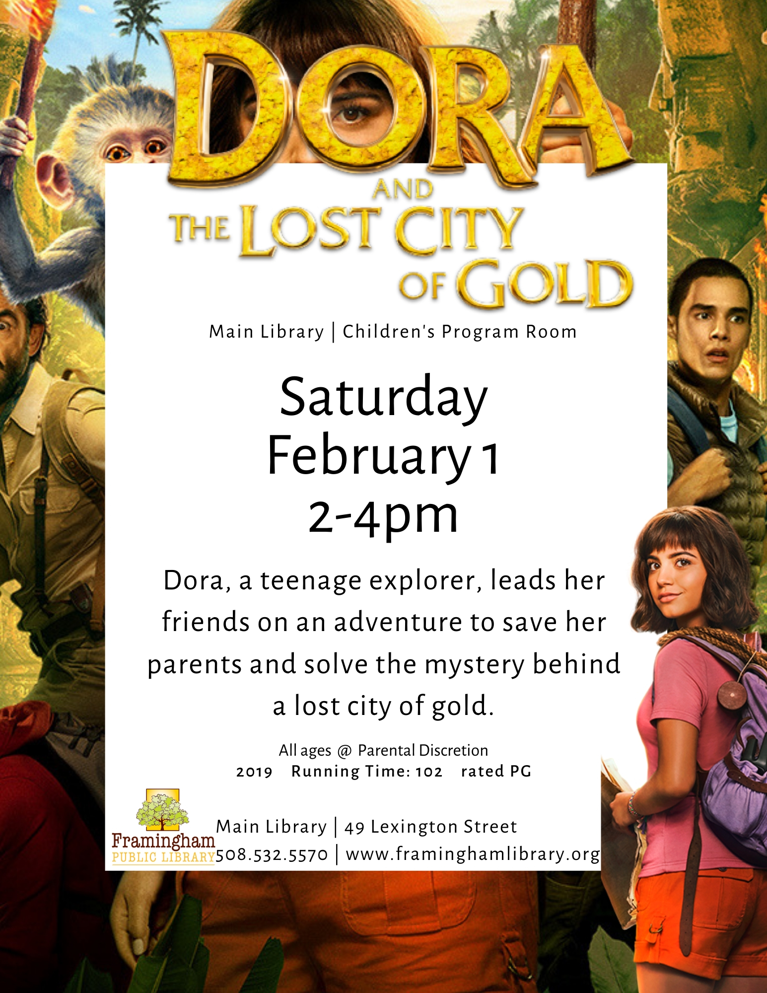 Movie Matinee: Dora and the Lost City of Gold (rescheduled from December) thumbnail Photo