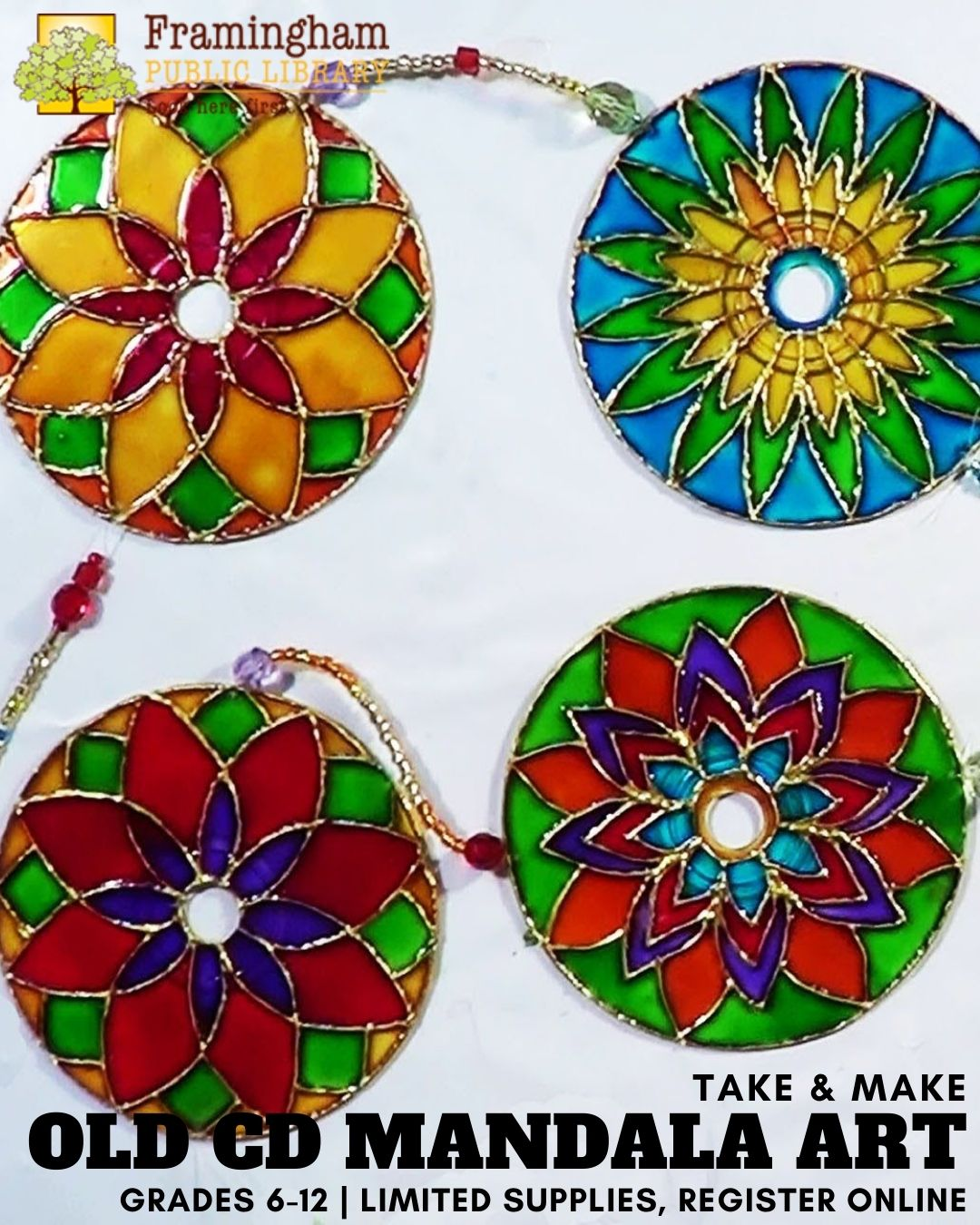 Old CD Mandala Art Take & Make Kit thumbnail Photo