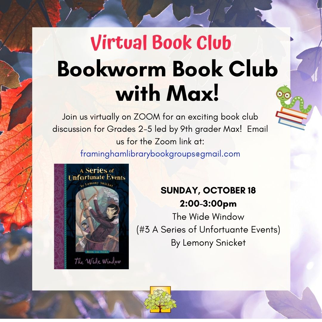 Virtual Bookworm Book Club with Max! thumbnail Photo