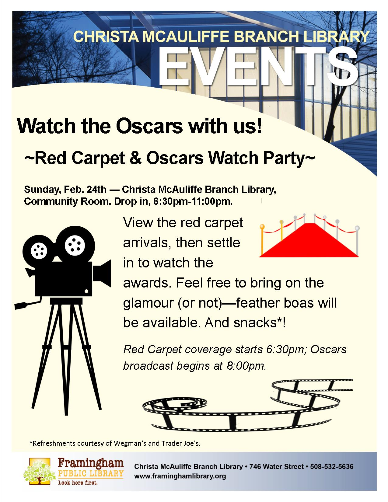 Red Carpet and Oscars Watch Party thumbnail Photo