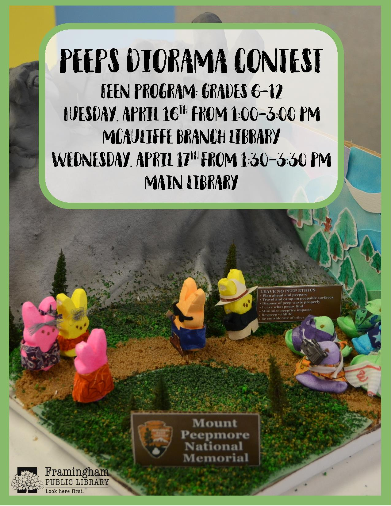 Vacation Week Craft: Peeps Dioramas (McAuliffe Branch Library) thumbnail Photo