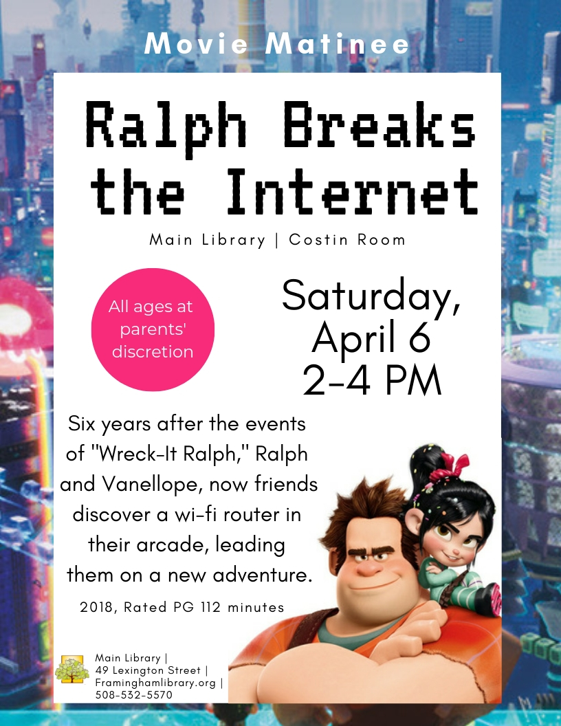 Movie Matinee: Ralph Breaks the Internet thumbnail Photo