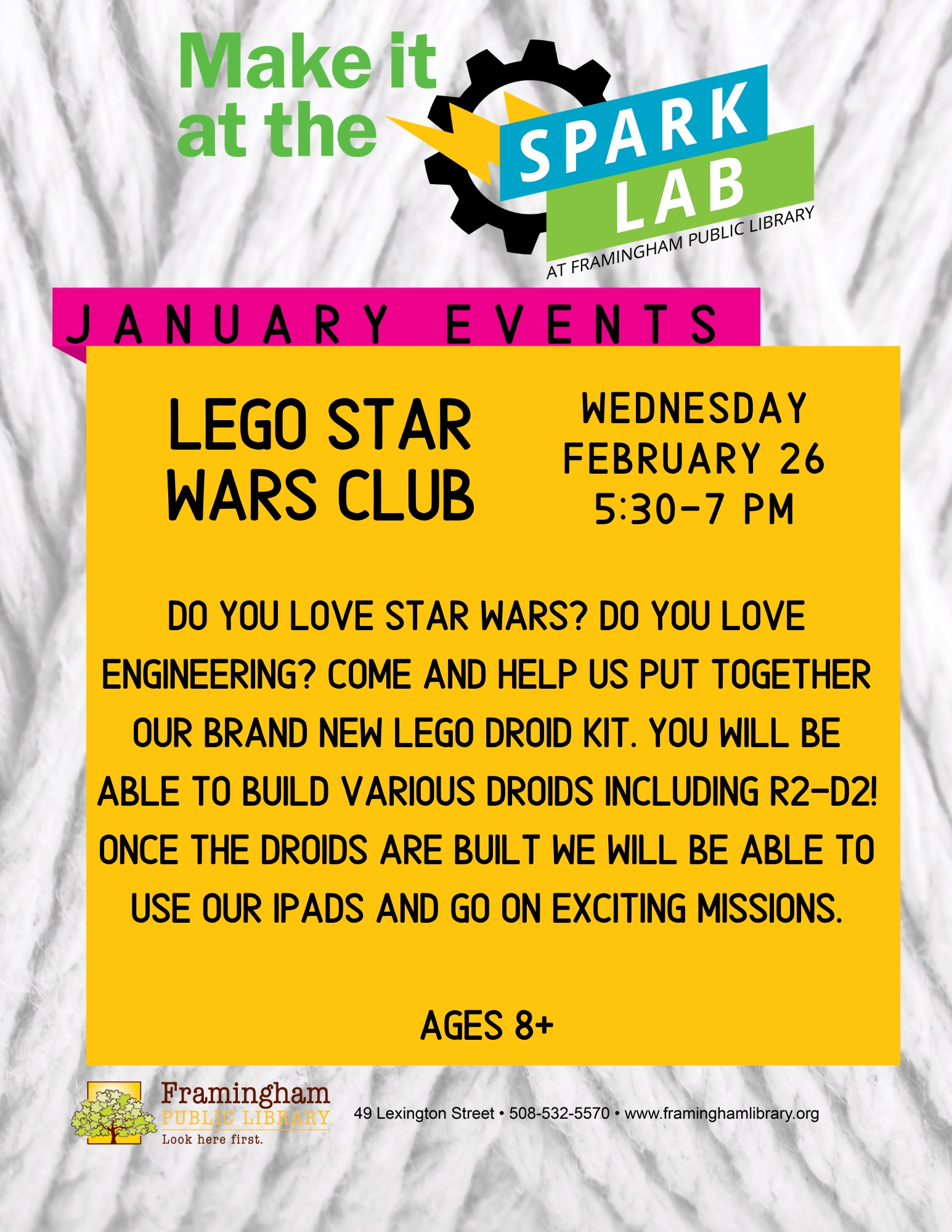 Spark Lab: Lego Star Wars Club thumbnail Photo