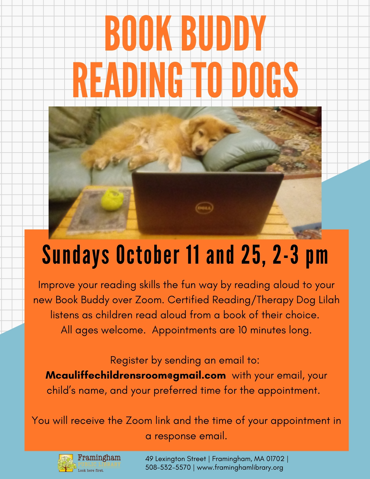 Book Buddy Reading to Dogs (All ages) thumbnail Photo