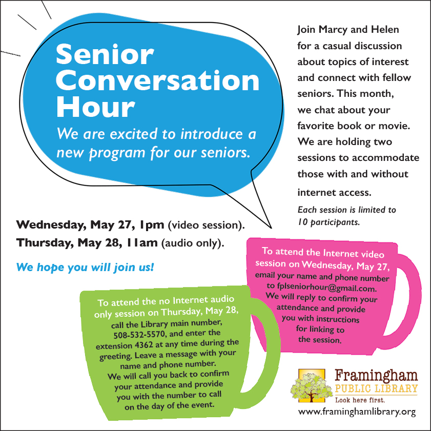 Senior Conversation Hour poster