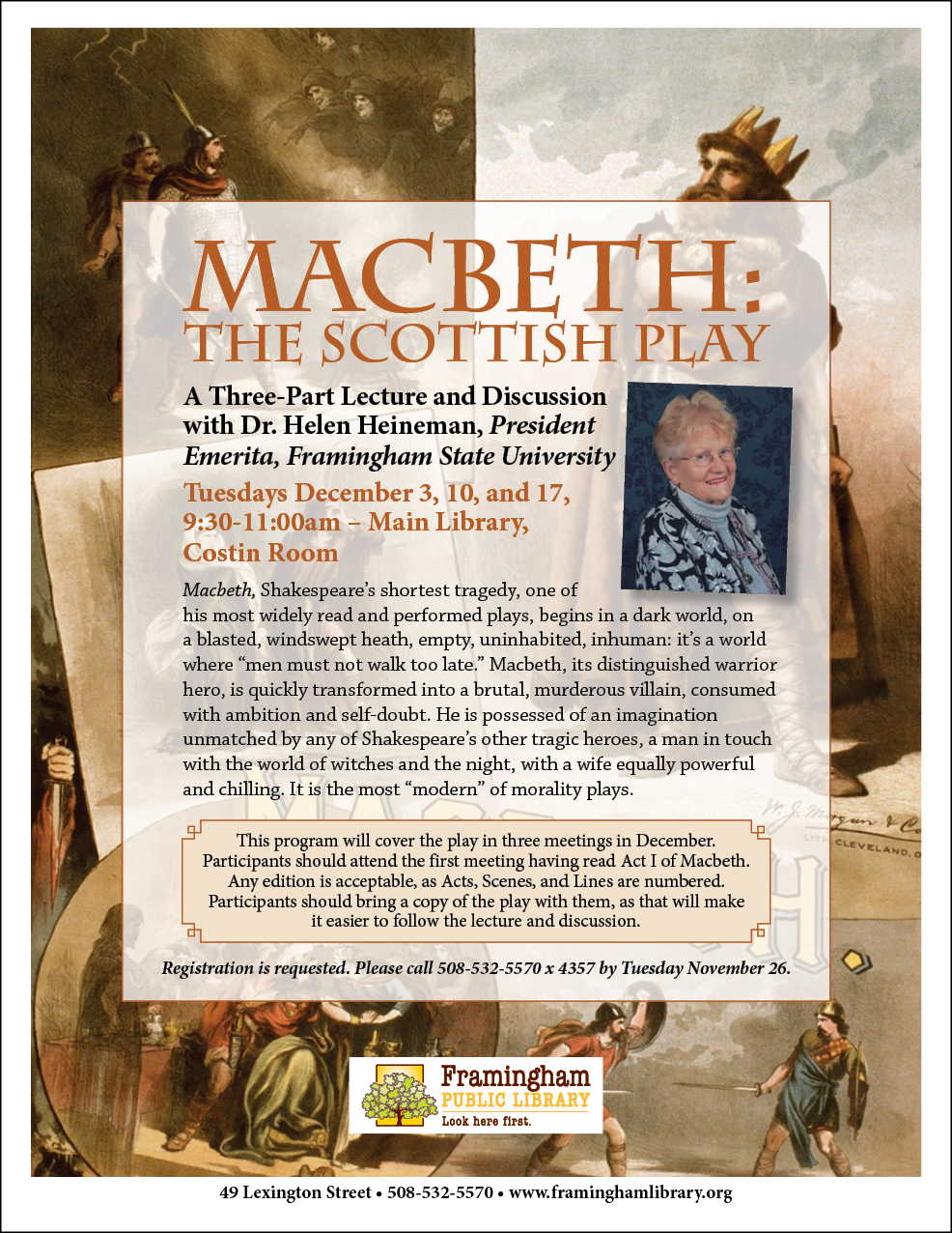 Macbeth: the Scottish Play: A Three-Part Lecture and Discussion with Dr. Helen Heineman thumbnail Photo