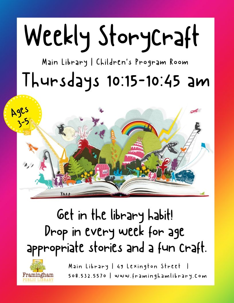 Weekly Storycraft at the Main Library thumbnail Photo