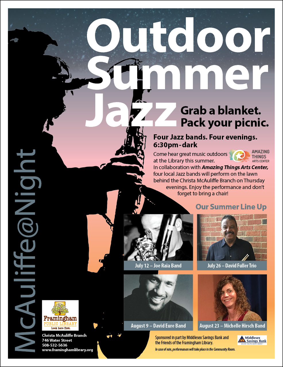 Outdoor Summer Jazz Series: Joe Raia Band thumbnail Photo