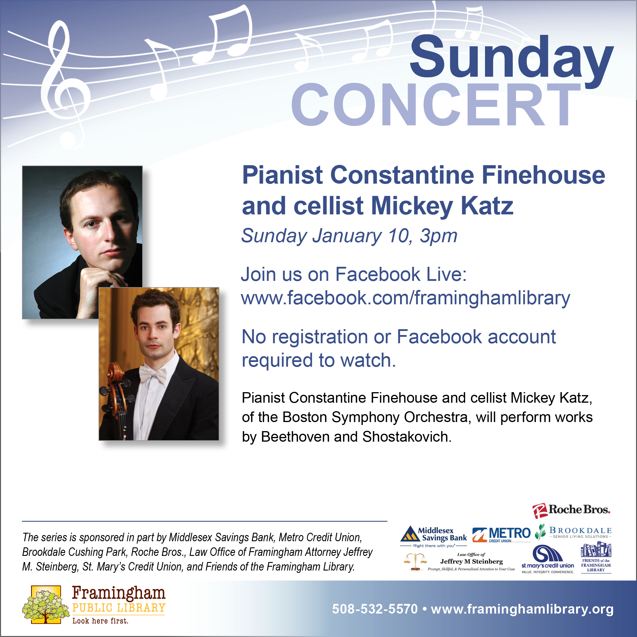Sunday Concert Series: Constantine Finehouse and Mickey Katz thumbnail Photo