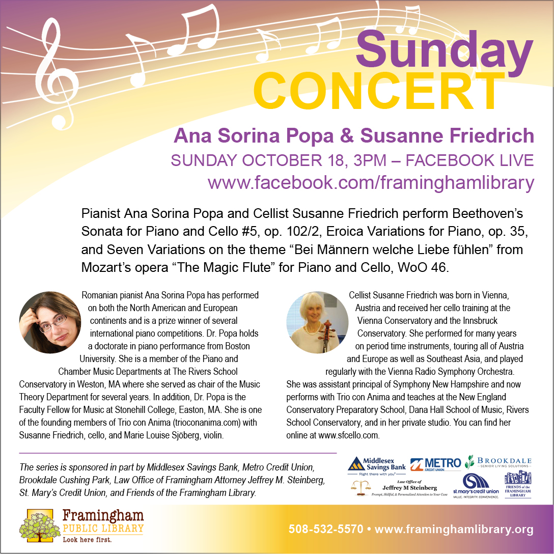 Sunday Concert: Ana Sorina Popa and Susanne Friedrich thumbnail Photo