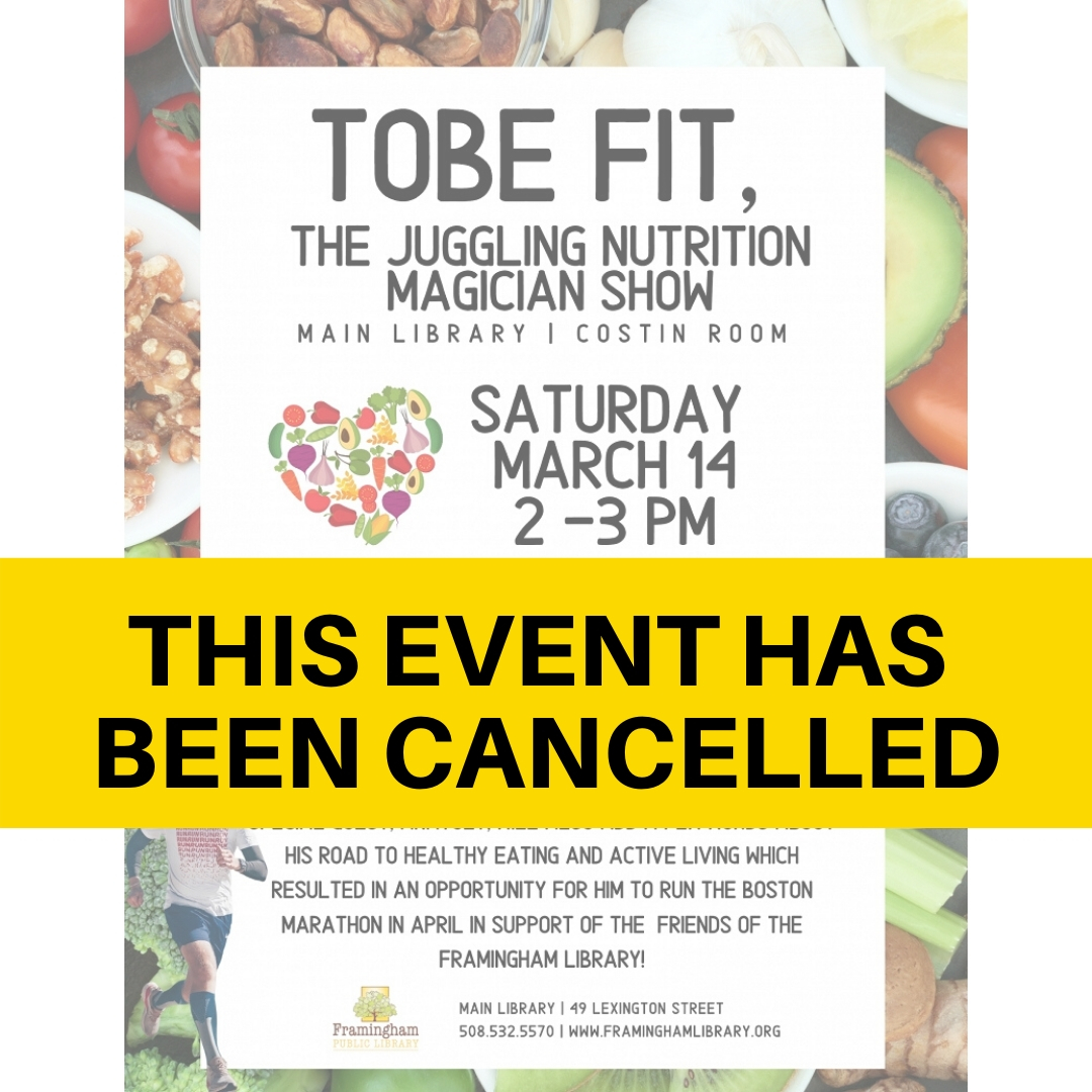 CANCELLED ToBe Fit, the Juggling Nutrition Magician Show thumbnail Photo