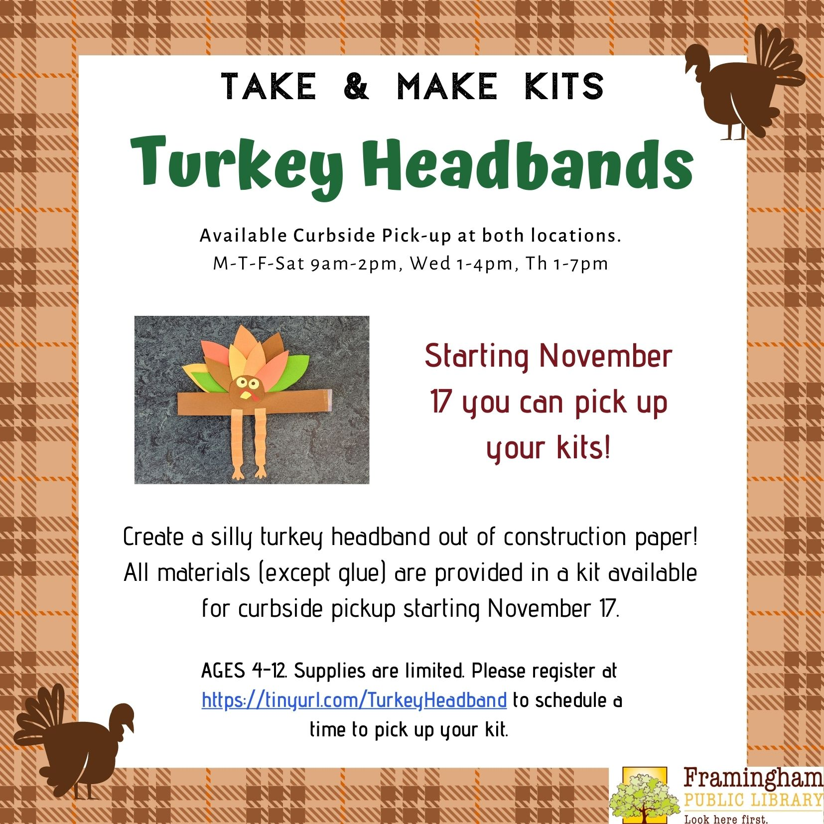 Take & Make Kit: Turkey Headband Craft thumbnail Photo