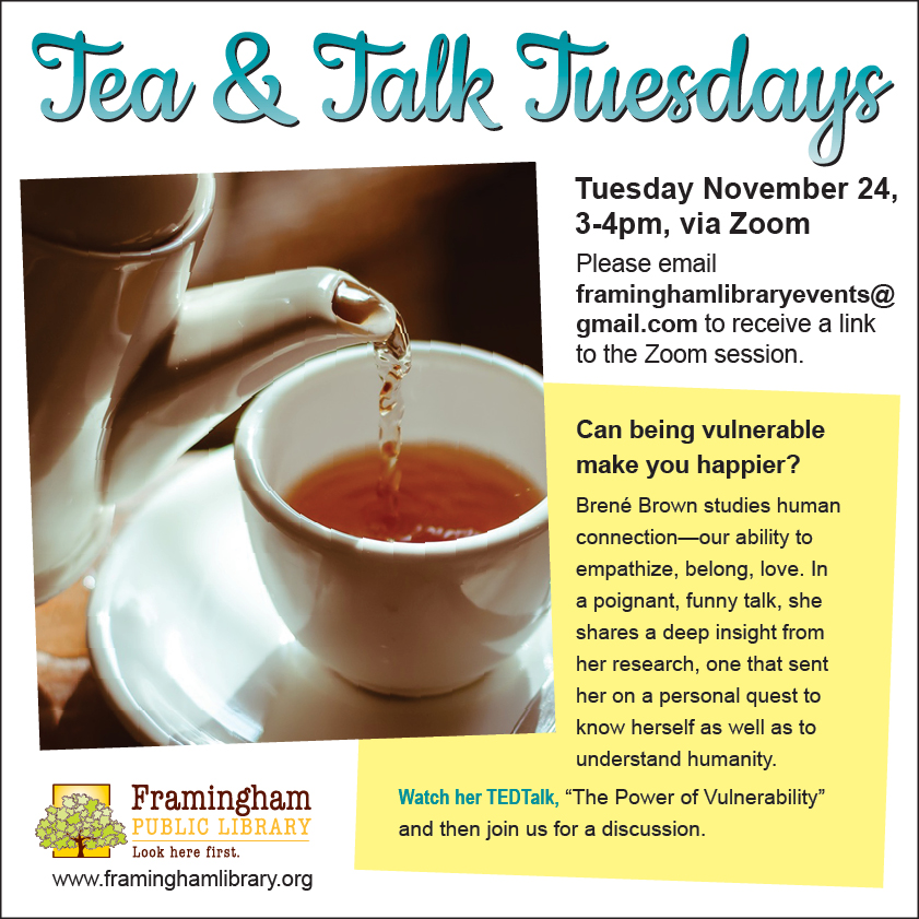 Tea & Talk Tuesdays thumbnail Photo