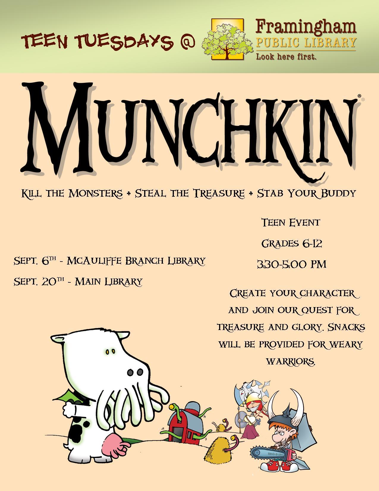 Teen Tuesdays: Munchkin! graphic
