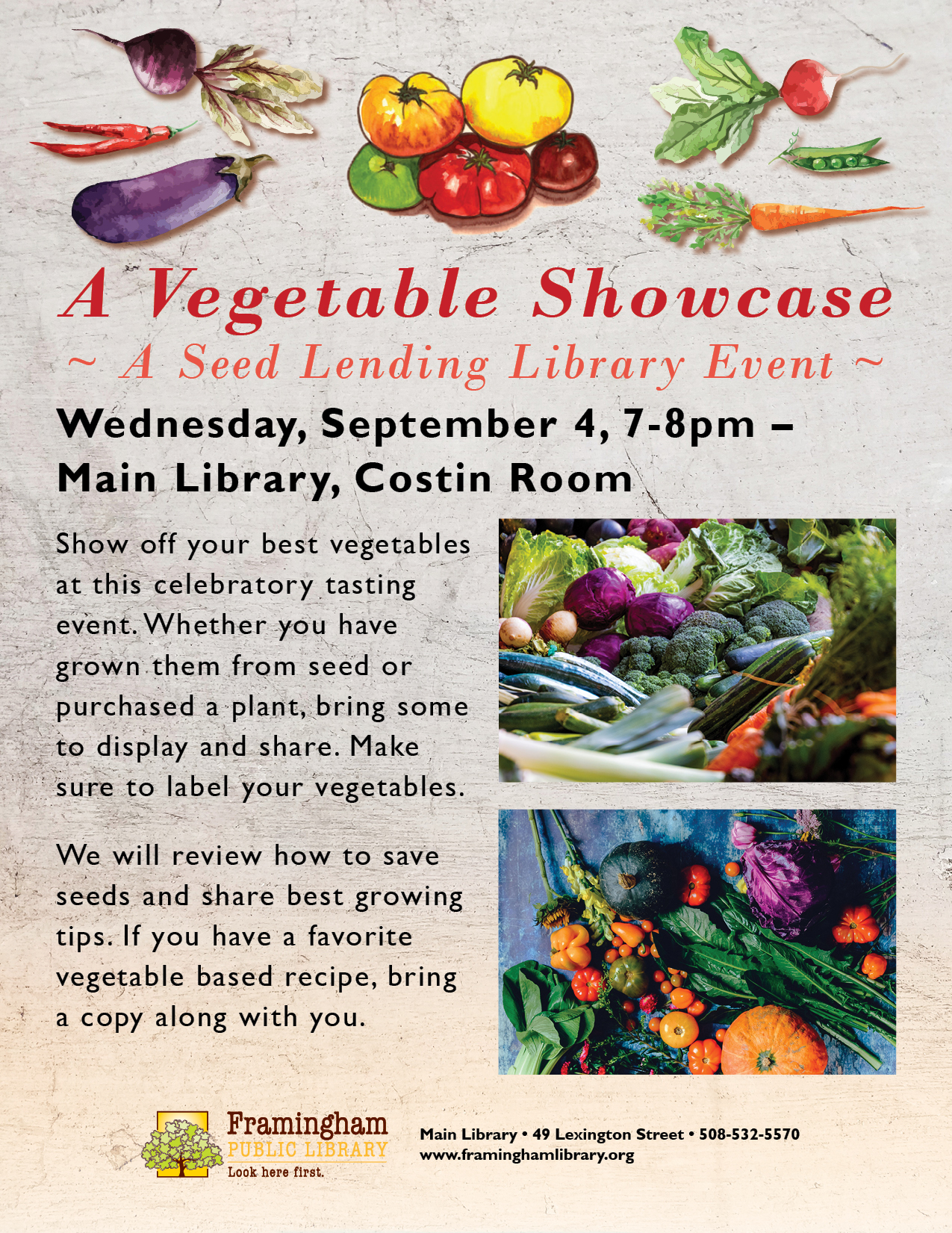 A Vegetable Showcase: A Seed Lending Library Event thumbnail Photo