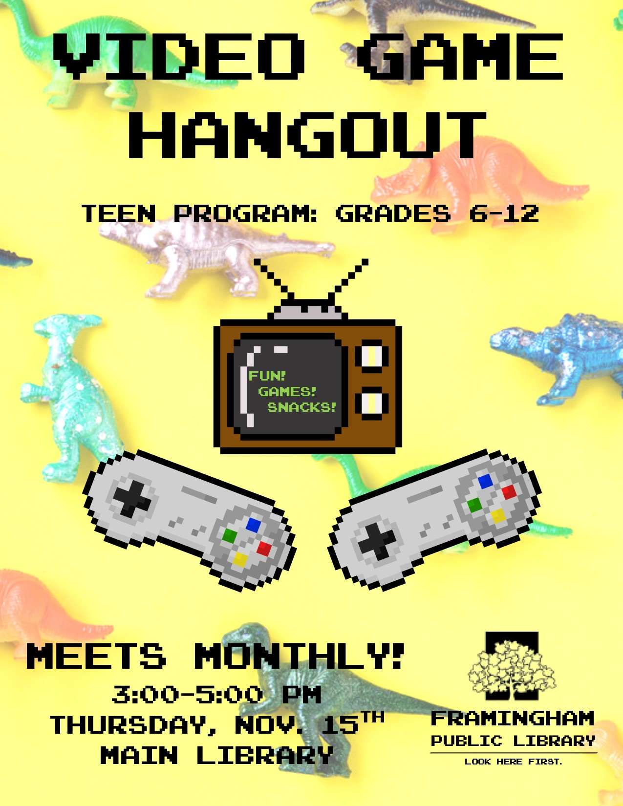 Video Game Hangout November thumbnail Photo
