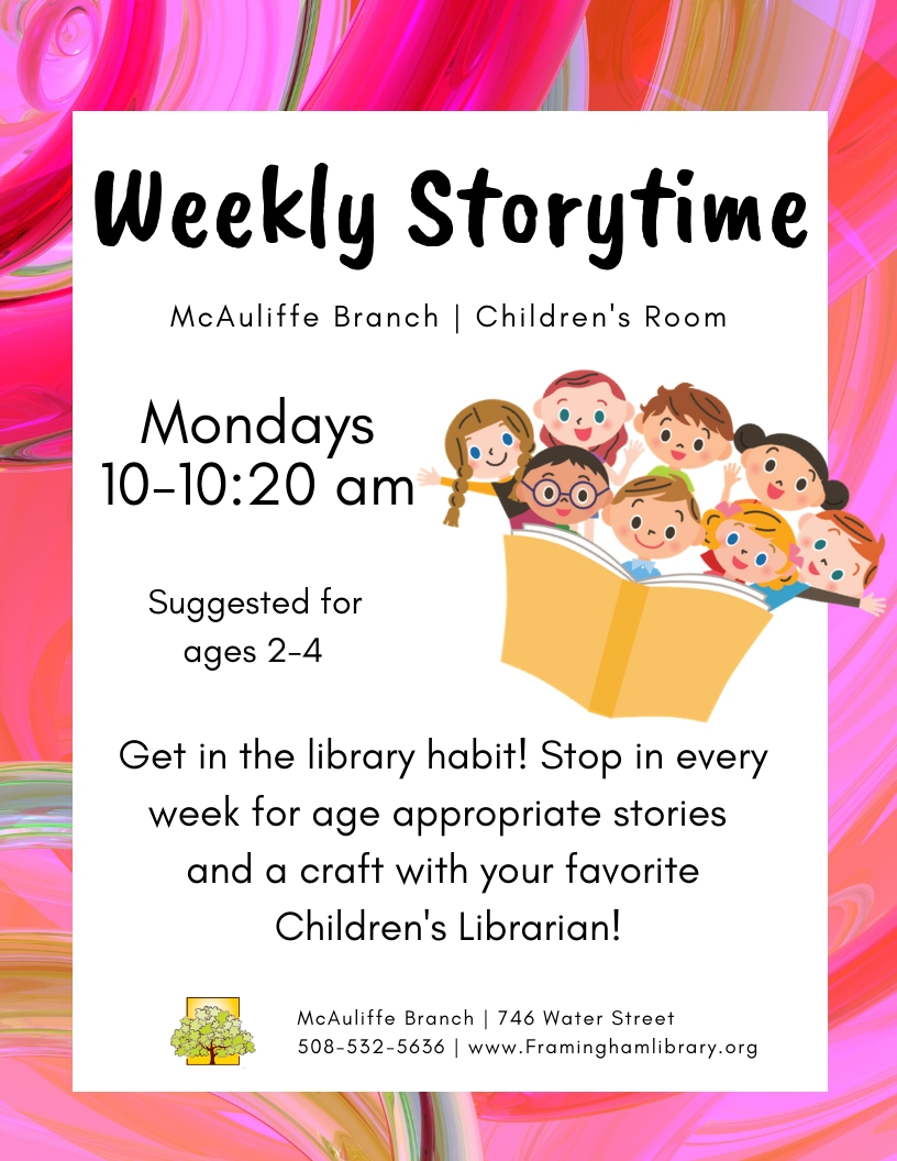 Weekly Storytime at McAuliffe thumbnail Photo