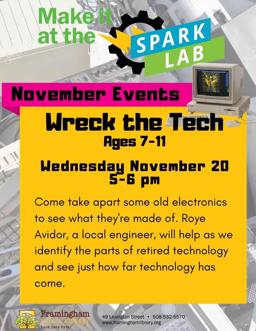 SparkLab for Kids: Wreck the Tech thumbnail Photo