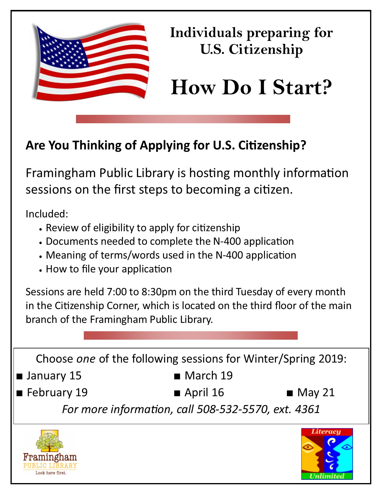 Preparing for U.S. Citizenship Workshop thumbnail Photo