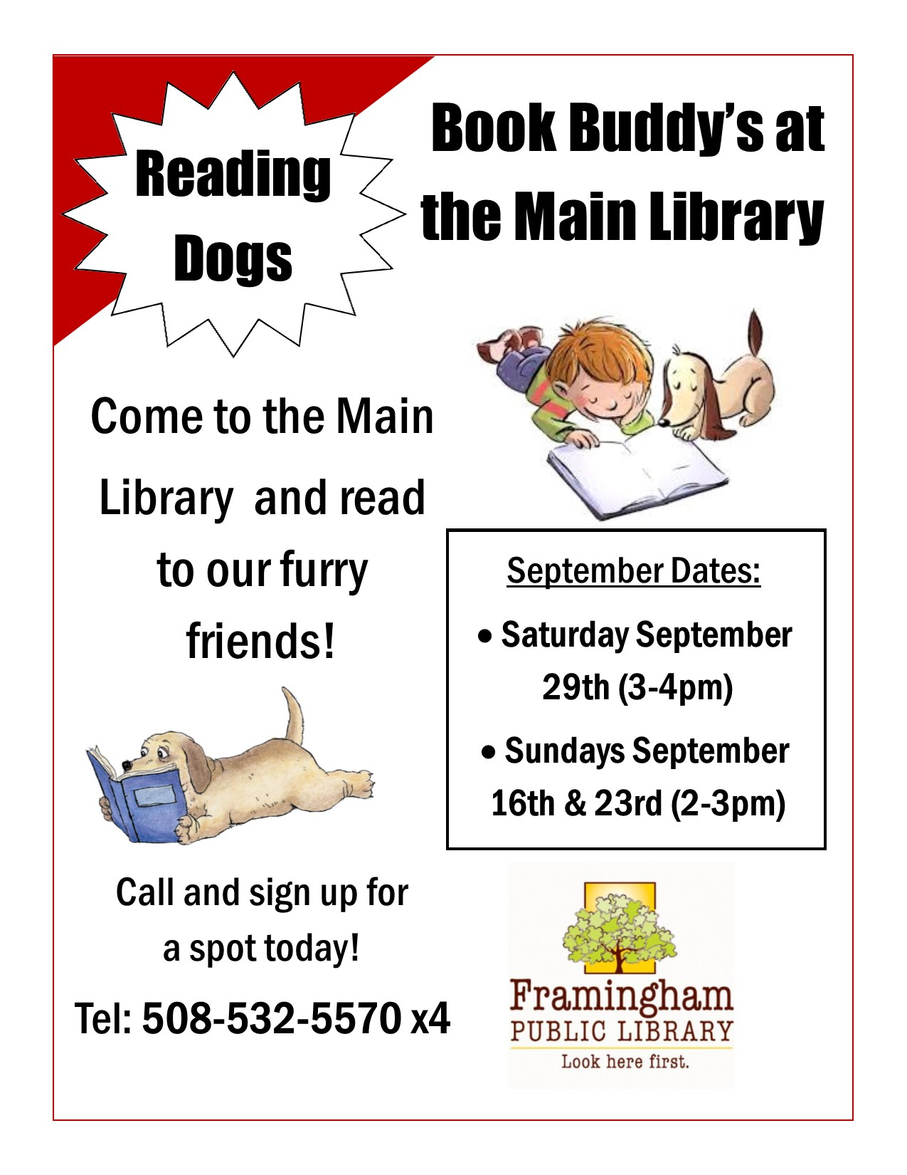 Book Buddy: Read to Dogs at Main Library thumbnail Photo