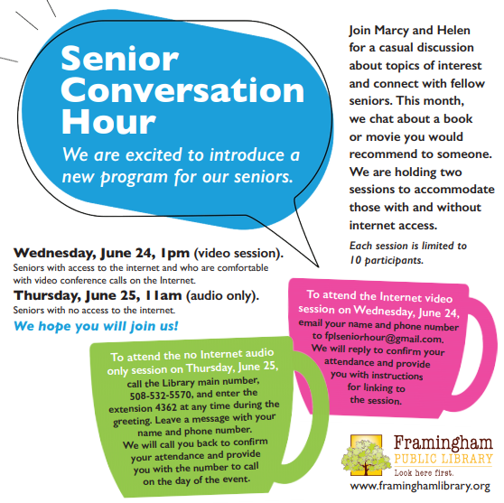 Senior Conversation Hour thumbnail Photo