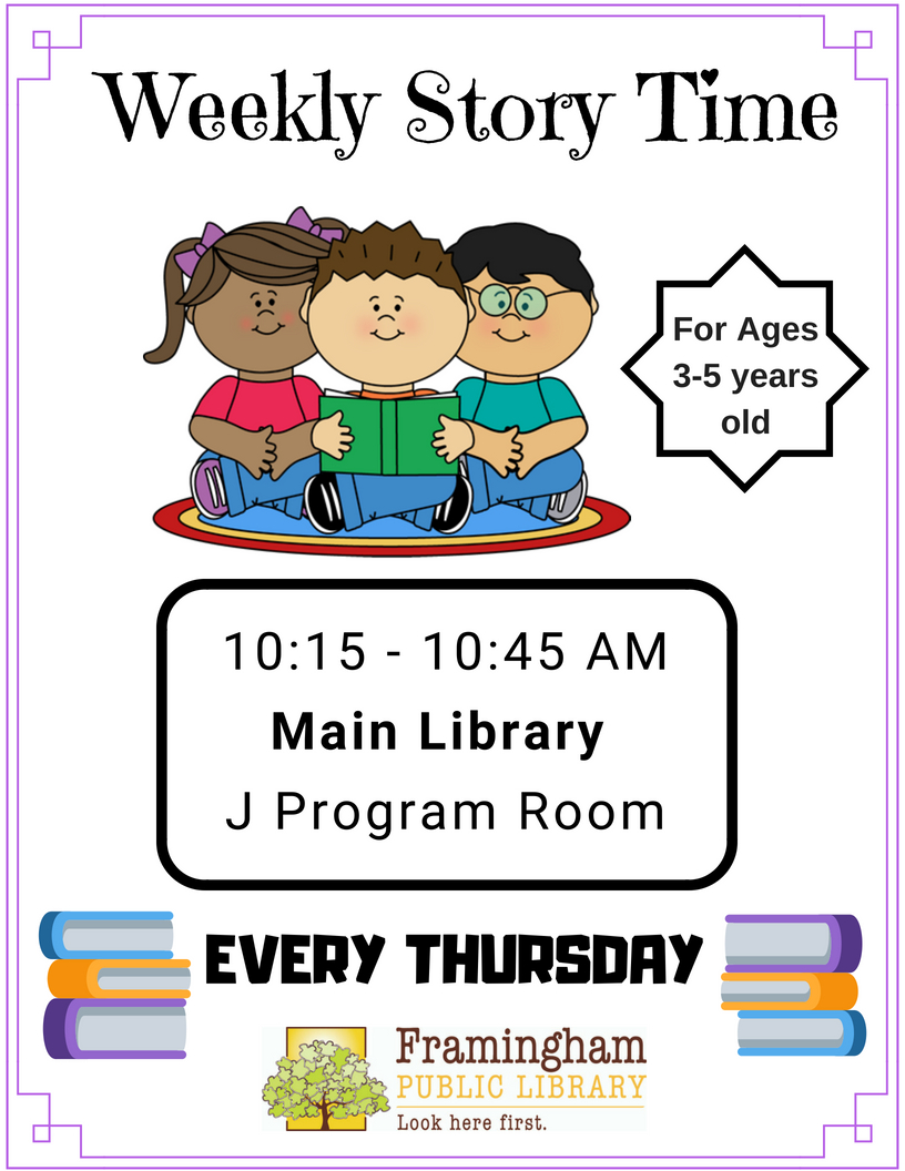 Weekly Story Time at Main Library thumbnail Photo