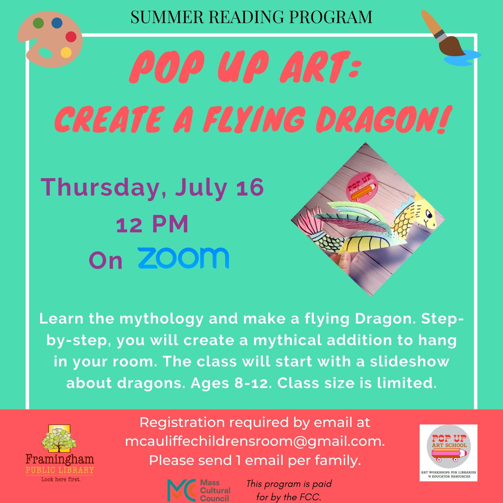 Pop Up Art: Create a Flying Dragon! thumbnail Photo