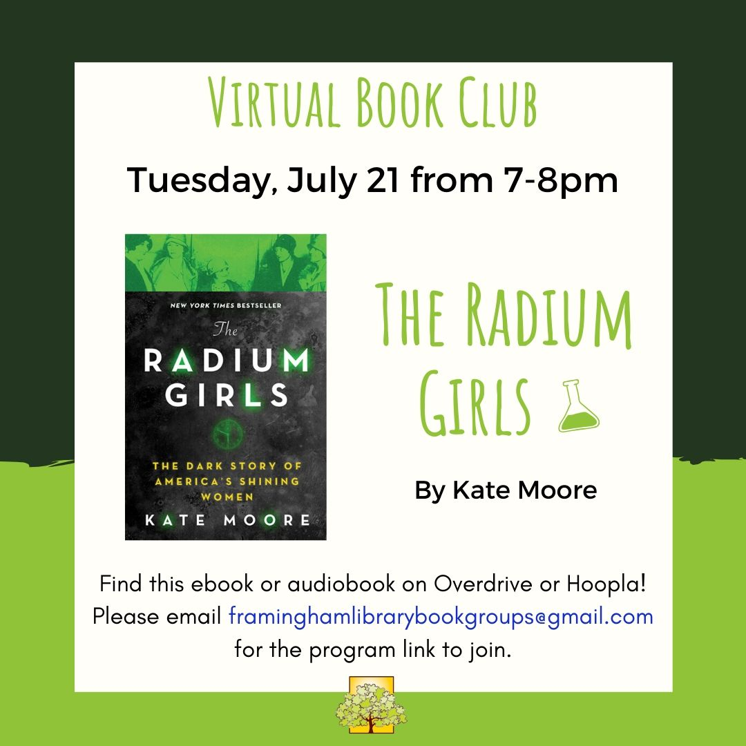 Book Discussion: The Radium Girls thumbnail Photo