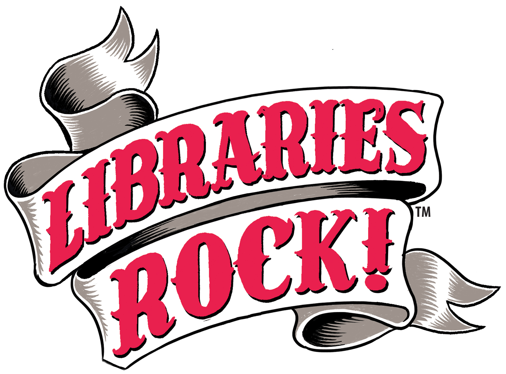 Logo of Libraries Rock summer reading theme