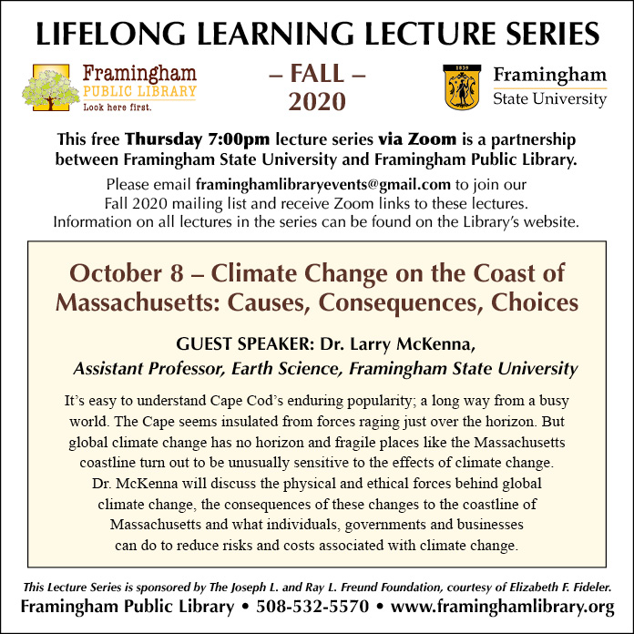 LLL Series: Climate Change on the Coast of Massachusetts: Causes, Consequences, Choices thumbnail Photo