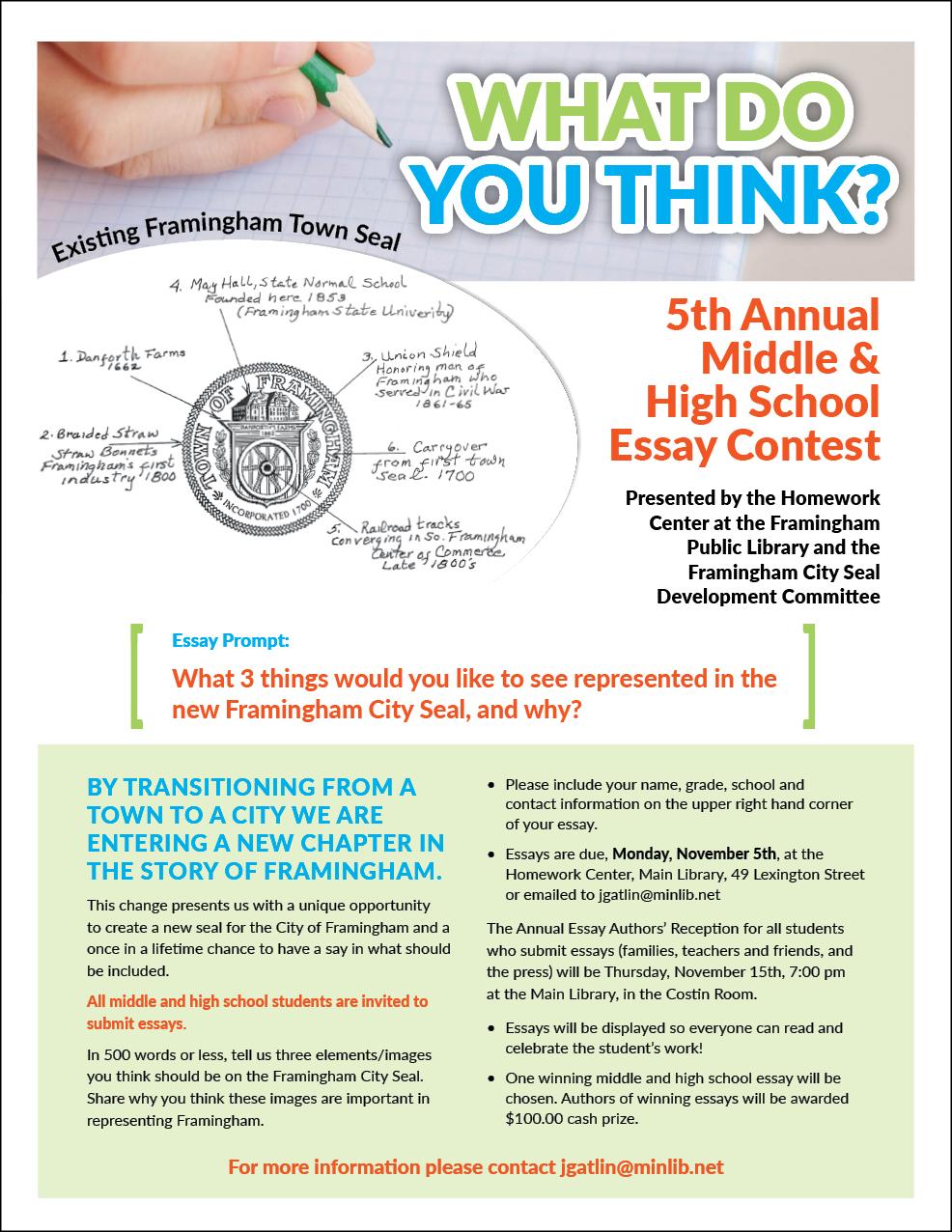 Essay contests 2013 high school