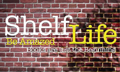 image of Shelf Life logo on a brick wall background