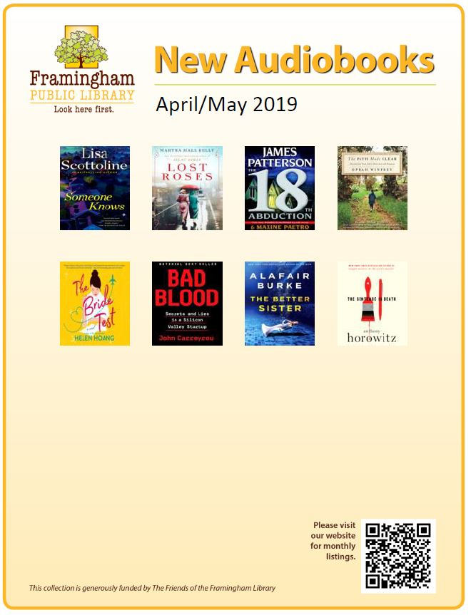 poster of new audiobooks April and May 2019