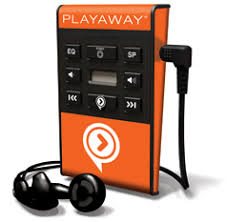 photo of Playaway with earbuds attached