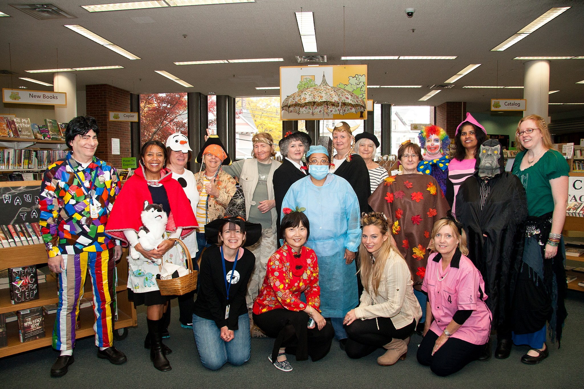 photo of staff in costume on Halloween