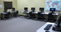 photo of computer stations in Literacy Department